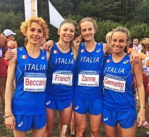 Le azzurrine bronzo a squadre