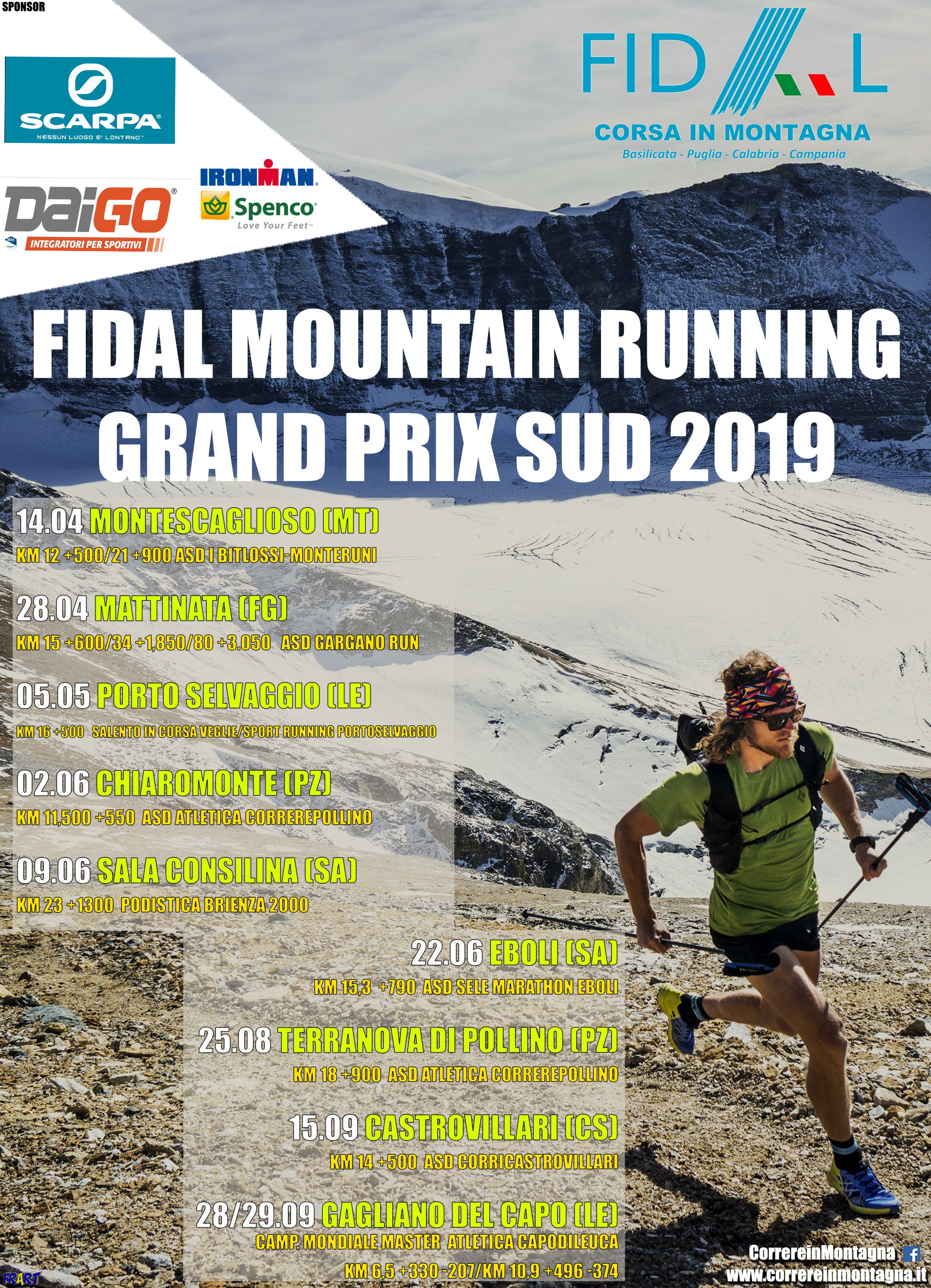 Fidal Calabria Calendario.Correre In Montagna Fidal Mountain Running Grand Prix Sud 2019